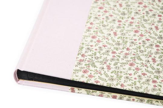 álbum de fotos clásico rosa flores