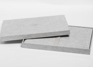caja de tela para libro de firmas